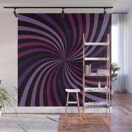 Purple Magenta Hypnotizing Swirl Wall Mural
