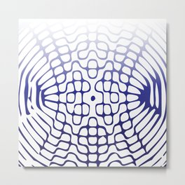 Blue Cymatics Pattern Metal Print