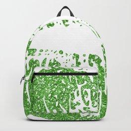 Green Lips Kiss & White Irish Shamrock Backpack