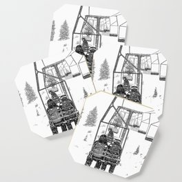 Snow Lift // Ski Chair Lift Colorado Mountains Black and White Snowboarding Vibes Photography Coaster