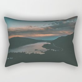 Columbia River Gorge Sunset Rectangular Pillow