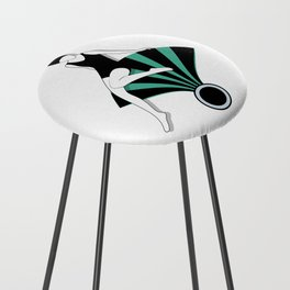 Art Deco Swimmers Counter Stool