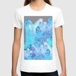 AURAL BLUE CRYSTALS ART T-shirt