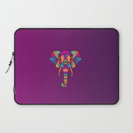 Elephant   Geometric Colorful Low Poly Animal Set Laptop Sleeve
