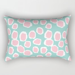 Hayden - abstract trendy gender neutral colorful bright happy dorm college decor pattern print art Rectangular Pillow
