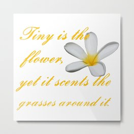 Tiny Is The Flower, Yet It Scents The Grasses Around It Metal Print