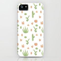 Cacti Pattern Green/Orange iPhone (5, 5s) Slim Case