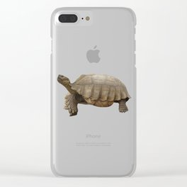 Sulcata Tortoise (side view) Clear iPhone Case