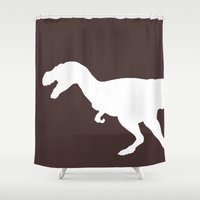 trex Shower Curtains featuring trex by AleDan