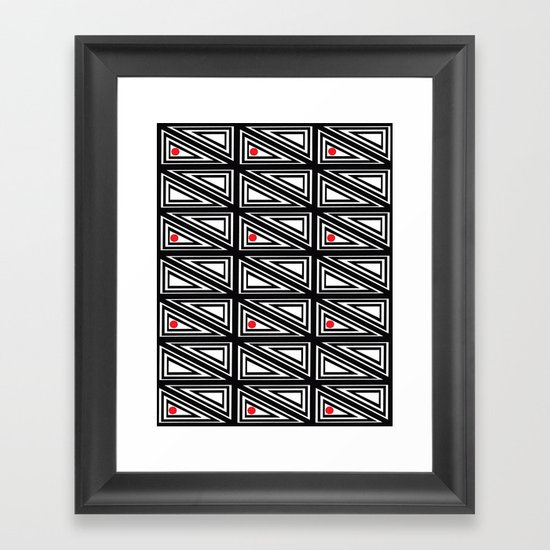 Triangle Box Framed Art Print