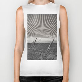 Before the storm - sunset graphic Biker Tank