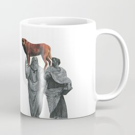 plato n aristotle walking their doge Coffee Mug