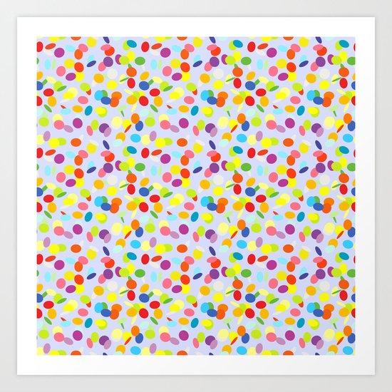 Festive confetti pattern Art Print