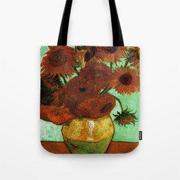 Van Gogh, sunflowers – Van Gogh,Vincent Van Gogh,impressionist,post-impressionism,brushwork,painting Tote Bag