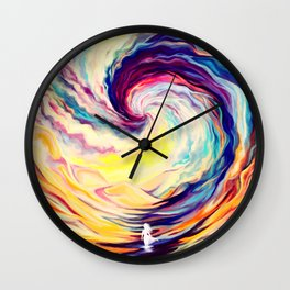 Fractal Clouds Wall Clock