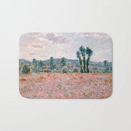 Poppy Field in Giverny by Claude Monet Bath Mat