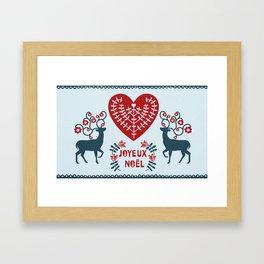 Joyeux Noel Framed Art Print