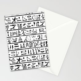 Egyptian Hieroglyphics Stationery Cards