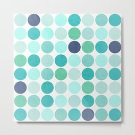 the blue dots Metal Print