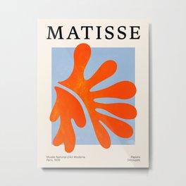Red Coral Leaf: Matisse Paper Cutouts II Metal Print