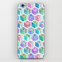 Christmas Gift Hexagons iPhone Skin