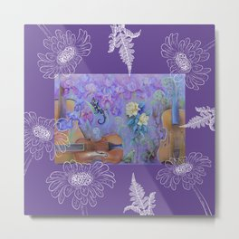 Music of flowers - Ultraviolet composition Metal Print