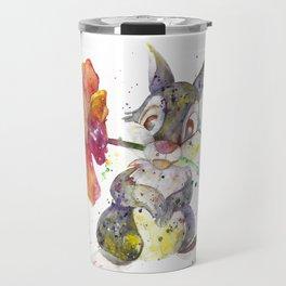 Thumper With Flower Travel Mug