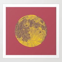 Chinese Mid-Autumn Festival Moon Cake Print Art Print