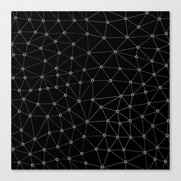 African Triangle Black Canvas Print