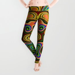 Color statement, abstract pattern Leggings
