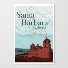Santa Barbara Mission Canvas Print