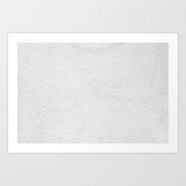 White Wall Texture (Black and White) Art Print