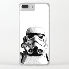 Stormtrooper Dotwork - Pointillism Fan Artwork Clear iPhone Case