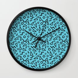 Triangles and Squiggles Wall Clock