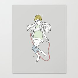 skip and jump Canvas Print