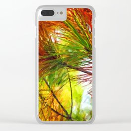 Pine branches with long and dense needles Clear iPhone Case