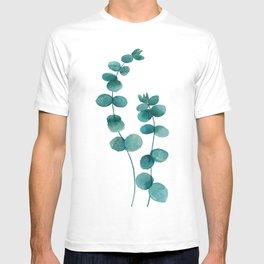 green eucalyptus watercolor T-shirt