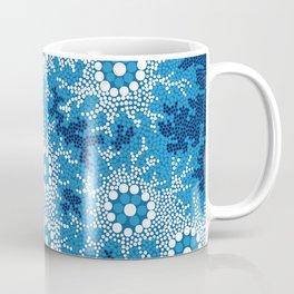 Authentic Aboriginal Art - Waterhole Dreaming Coffee Mug