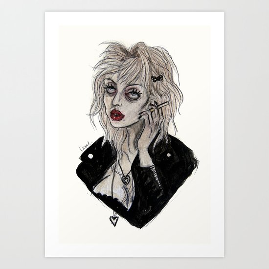 Courtney love cobain Art Print
