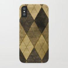 Wooden big diamond iPhone X Slim Case