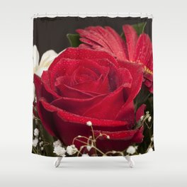 Red Bouquet Shower Curtain