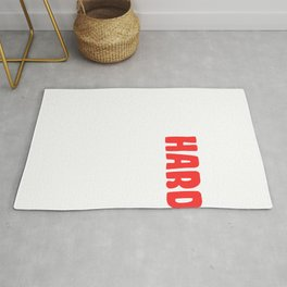 "Are You A Hard Person? A Perfect Tee For You Saying ""It's Hard To Focus Today"" T-shrt Design Rug"