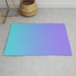Light Purple and Bright Turquoise Mermaid Ombre Rug
