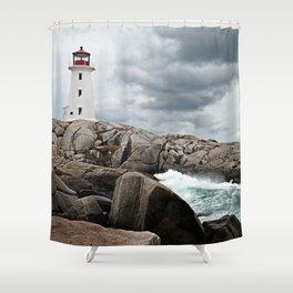 Peggy's Cove Light House -- Nova Scotia Shower Curtain