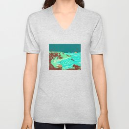 PHANTOM SHORE Unisex V-Neck