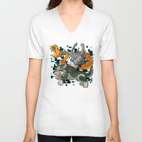 invader zim V-neck T-shirts featuring Invader Midna by HelloTwinsies