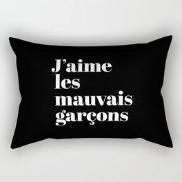 J'aime les mauvais garçons (Black & White) Rectangular Pillow