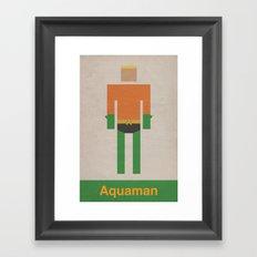 Retro Aquaman Framed Art Print