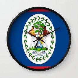 flag of belize-Belice, Belizean,Belize City,beliceno,Belmopan Wall Clock