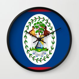 flag of belize-Belice, Belizean,Belize City,beliceno,Belmopan Wall Clock